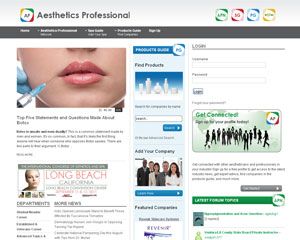 Aesthetics Professional Website