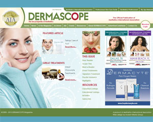 DERMASCOPE Magazine Website