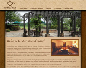 Star Brand Ranch Executive Retreat Website
